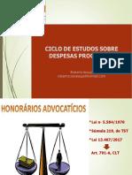 Ejud 7 Ciclo de Estudos Sobre Despesas Processuais