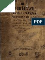 Antigüedad y Cosas Memorables de La Villa de Requena (Pedro Domínguez de La Coba)