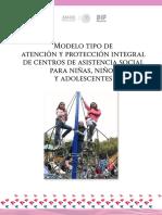 Modelo Tipo de Atención y Protección Integral de Centros de