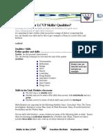 Skills - Qualities LCVP