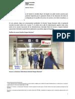 Diseño de espacios peatonales para estaciones de metro