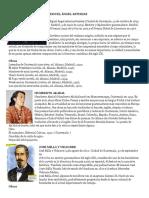 Biografias de escritores, cantantes, pintor etc guatemaltecos