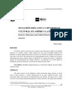 López, N. 2016. Inclusión Educativa y Diversidad En