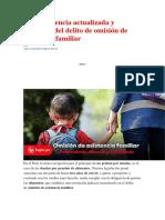 Jurisprudencia Actualizada y Relevante Del Delito de Omisión de Asistencia Familiar