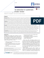 Automating data extraction in systematic reviews