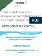 Exhortacion Apostolica Del Papa Francisco Evangelium Gaudium