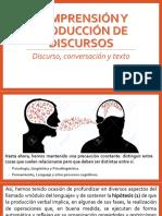 COMPRENCION  Y PRODUCCION DE DISCURSO