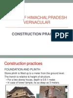 Construction Practises of Himachal Pradesh