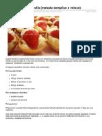 fiorellini Di Pasta Frolla Metodo Semplice e Veloce