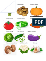20 Verduras en Ingles