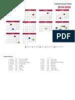 Calendario Escolar Landscape Toledo 2019