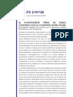 EL AYUNTAMIENTO DE TORRELODONES FIRMA UN NUEVO CONVENIO CON LA COMPAÑÍA MARÍA PAGÉS