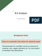 B.E Analysis