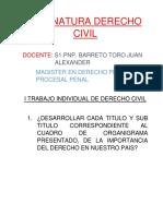 Actividades de La Asignatura de DERECHO CIVIL