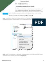 Identificar Drivers en Windows