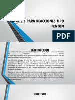 Catalisis Para Reacciones Tipo Fenton