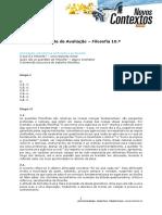 Teste Filosofia 10.º - Abordagem Introdutória à Filosofia e Ao Filosofar - Correção