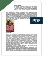 Biografia de Rigoberta Menchu