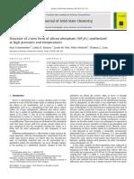 Estructura de Una Nueva Forma de Fosfato de Silicio