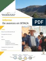 Avances del Proyecto Ixtaca 25 Sept 2019