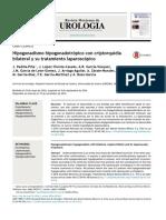 Hipogonadismohipogonadotrópicoconcriptorquidiabilateralysutratamientolaparoscópico
