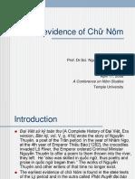 Nguyen Quang Hong - Earliest Evidence Of_chu Nom