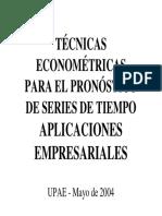 Técnicas econométricas para el pronóstico de series de tiempo