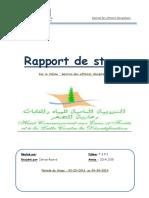 Rapport de Stage Tmsir