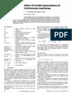 Determiancion de Parametros Para El Modelo de Maquina Sincrona