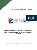 Directiva de Contrata de Docentes Por Invitacion