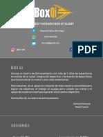 Box Qi Planes y Horarios 2019