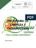 Programa de Limpieza y Desinfección Quintalac