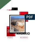 Anuario minero del 2018