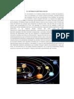 El Sistema Planetario Solar