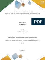 Anexo 1 - Tarea 3 - Los Enfoques Disciplinares en Psicología (2)