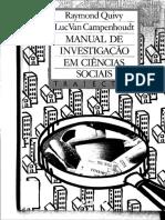 Manual de Investigação em Ciências Sociais - R. Quivy &  L.V. Campenhoudt