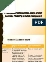 Diferencias Entre Las NIIF Plenas y Las NIIF Pymes