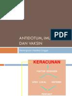 Antidotum, Imunisasi Dan Vaksin