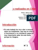 Transplantes Realizados en Chile