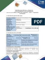 Guía de Actividades y Rubrica de Evaluación - Fase 2 - Ingeniería de Métodos