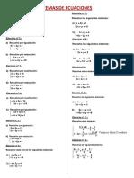 Problemas de Sistemas de Ecuaciones