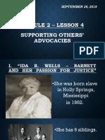 9. Module 2 – Lesson 4 (Ida Wells) @ Discussion
