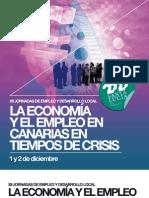 La Economia y El Empleo en Canarias en Tiempos de Crisis