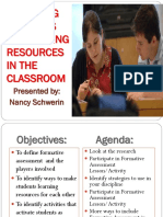 Activating Students as Learning Resources in the Classroom