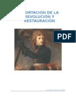 EXPORTACIÓN DE LA REVOLUCIÓN Y RESTAURACIÓN 1