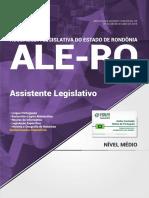 #Apostila Assembleia Legislativa - RO - Assistente Legislativo (2018) - Novas Concursos.pdf