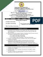 Scholarship Notification 2019-2020