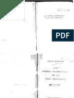 Durkheim Emilio - Las Formas Element Ales de La Vida Religiosa