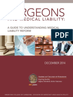 Surgeons and Medical Liability Primer