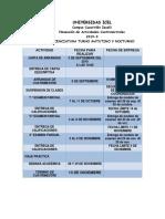 Calendario Actividades Lic y Pos 2019-1